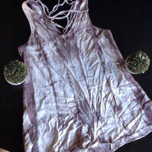 Grey and white tie dye romper